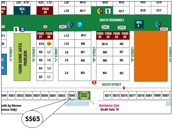 Map of World Ag Expo